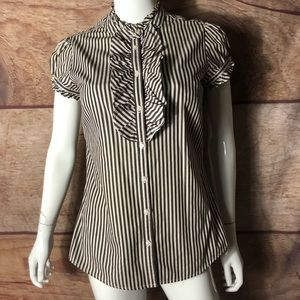 Gap Women's Button Front Top Striped Size 4!